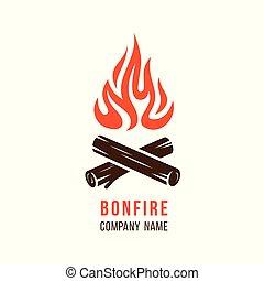καυσόξυλα , φωτιά κατασκήνωσης