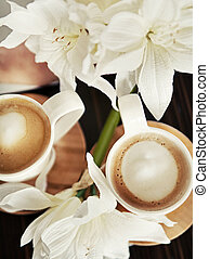 καφέ άγιο δισκοπότηρο , λουλούδια