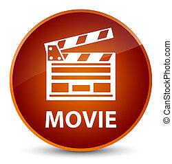 καφέ , ακροτομώ , ταινία , κουμπί , icon), κομψός , στρογγυλός , (cinema