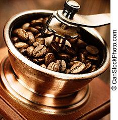 καφέ αλέθω