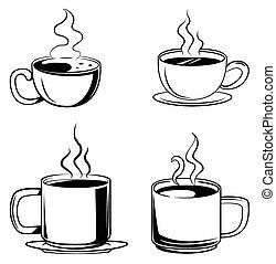 καφέ αναθέτω , σύμβολο , συλλογή