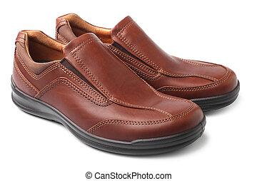 καφέ , παπούτσια