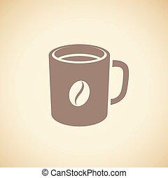 καφέ , σπόρος καφέ , εικόνα , απομονωμένος , κύπελο ,...