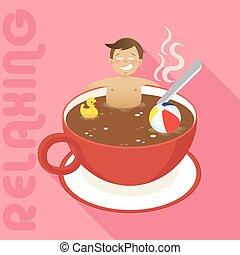 καφέs , άντραs , αναστατωμένος αριστερός , κύπελο