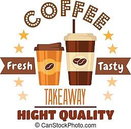 καφέs , ασφάλιστρο , σύμβολο , σχεδιάζω , takeaway , πίνω