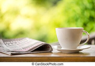 καφέs , καλός , κήπος , φύση , κύπελο , πρωί αξίες , αγίνωτος φόντο , νέα
