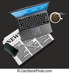 καφέs , κινητός , γραφική παράσταση , laptop , τηλέφωνο , μαύρο , οθόνη , αγορά , στοκ
