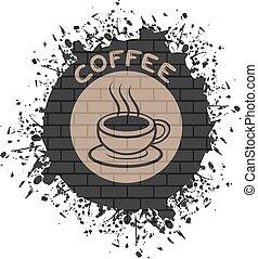 καφέs , τέχνη , σύμβολο