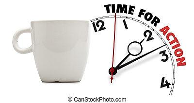 καφέs , τσάι , κομψός , κύπελο , ώρα , δράση , ή