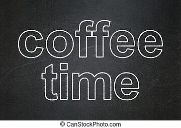 καφέs , timeline , chalkboard , φόντο , ώρα , concept: