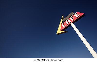 καφετέρια , σήμα , κατά μήκος , ιστορικός , δρόμος 66