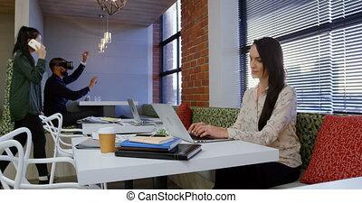 καφετέρια , στελέχη , επιχείρηση , εργαζόμενος , 4k, γραφείο