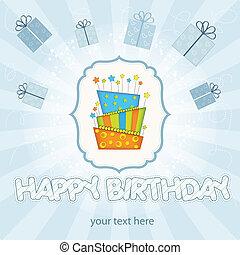 καύση, μεγάλος, γενέθλια, μικροβιοφορέας, κερί, κέηκ