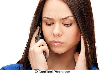 κελί , επιχειρηματίαs γυναίκα , τηλέφωνο