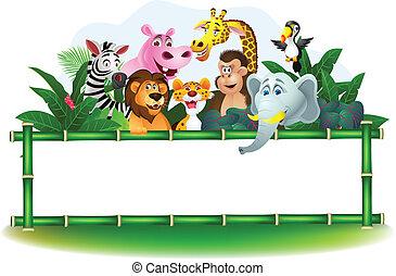 κενός αναχωρώ , ζώο , γελοιογραφία