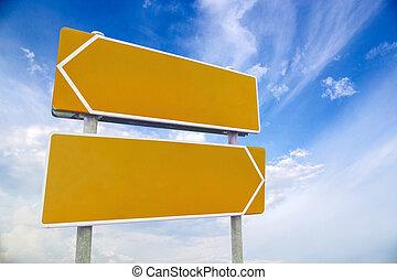 κενό , αστικός δρόμος αναχωρώ , εναντίον , ουρανόs , και , θαμπάδα