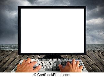 κενό , οθόνη , ηλεκτρονικός υπολογιστής