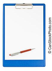 κενό , πένα , clipboard