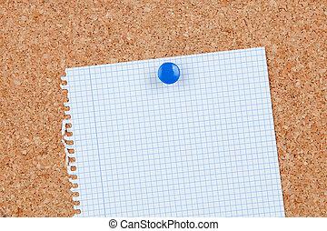κενό , χαρτί , πίνακας ανακοινώσεων , φελλός
