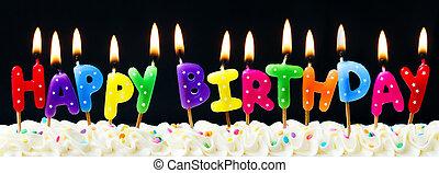 κερί , γενέθλια , ευτυχισμένος