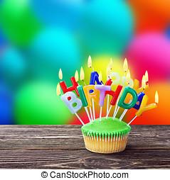 κερί , γενέθλια , cupcakes , ευτυχισμένος