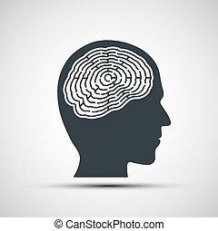 κεφάλι , ανθρώπινος , labyrinth.