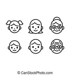 κεφάλι , απεικόνιση , άνθρωποι , ζεσεεδ