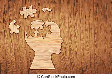 κεφάλι , διανοητικός , puzzle., περίγραμμα , σύμβολο. , υγεία , ανθρώπινος
