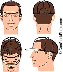 κεφάλι , σκούφοs , τένιs , μπέηζμπολ , εκστομίζω , άντραs