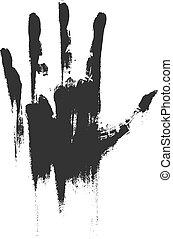 κηλίδα , βρωμιά , χέρι
