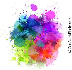 κηλίδα , με πολλά χρώματα
