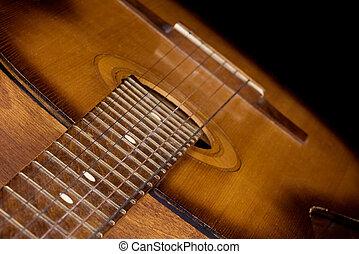 κιθάρα , επάνω , μαύρο φόντο