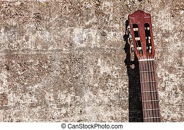 κιθάρα , κλίση , wall.