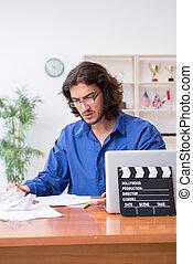 κινηματογραφική ταινία διευθυντής , στούντιο , εργαζόμενος
