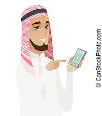 κινητός , επιχειρηματίας , μουσελίνη , τηλέφωνο. , κράτημα