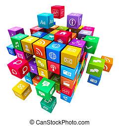 κινητός , μέσα ενημέρωσης , γενική ιδέα , τεχνολογία , εφαρμογές