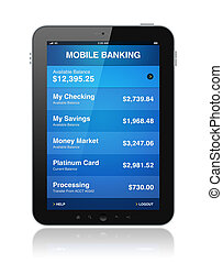 κινητός , τραπεζιτικές εργασίες , δισκίο , ψηφιακός
