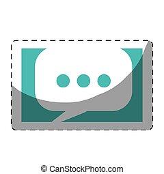 κινητός , messaging , εικόνα , κουβέντα , εικόνα