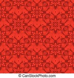κλίση , πρότυπο , ευφυής , seamless, κόκκινο