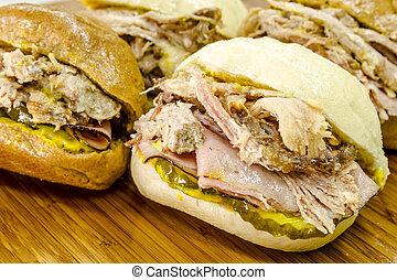 κλασικός , κουβανός , medianoche, κάνω σάντουιτς