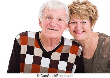 κλείνω , ζευγάρι , πάνω , ηλικιωμένος