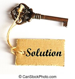 κλειδί , να , διάλυμα