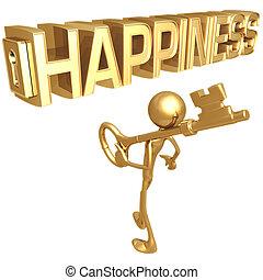 κλειδί , να , ευτυχία