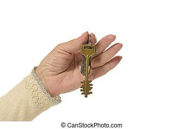 κλειδιά , γυναίκα , χέρι