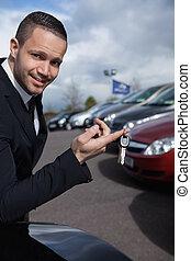 κλειδιά , κράτημα , δάκτυλο , αυτοκίνητο , άντραs