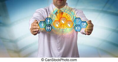 κλινικός ιατρός , integrating, ασθενής , δεδομένα , με , κομψός , ai