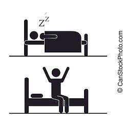 κοιμάμαι , σχεδιάζω