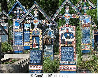 κοιμητήριο , ρουμανία , sapanta, εύθυμος , maramures