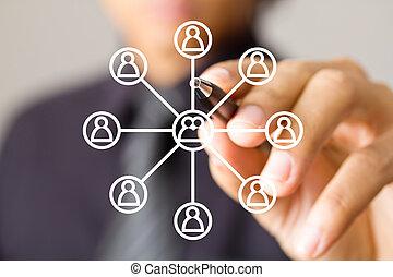 κοινωνικός , δίκτυο , δομή