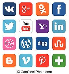 κοινωνικός , μέσα ενημέρωσης , απεικόνιση